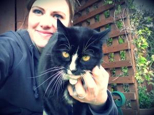 Whitburn Whiskers cat sitting
