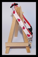 Red ladybird cat collar