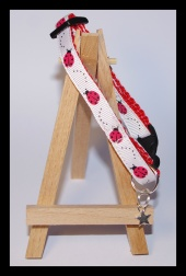 Red ladybird cat collar