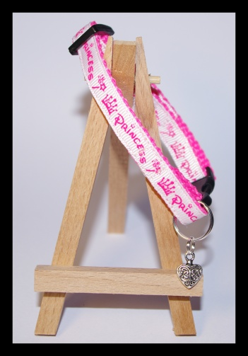 Safety pink cat collar