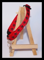 Red and black cat collar