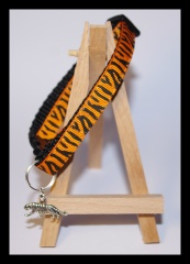 Orange striped black collar
