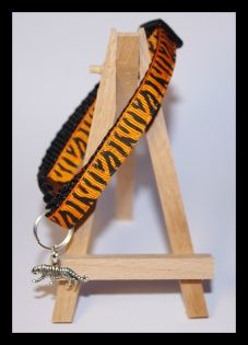 Orange striped black collar