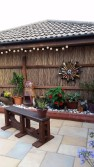 outdoor cat enclosure bamboo fencing